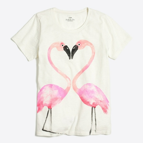 J.Crew flamingo collector T. Shirt